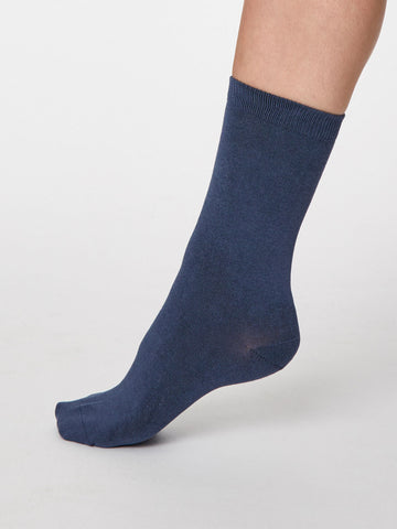 Solid Jackie Bamboo in Denim Blue by Thought - Size 4-7-bamboofeet