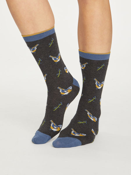 British Birds Bamboo Socks by Thought - Size 4-7-bamboofeet