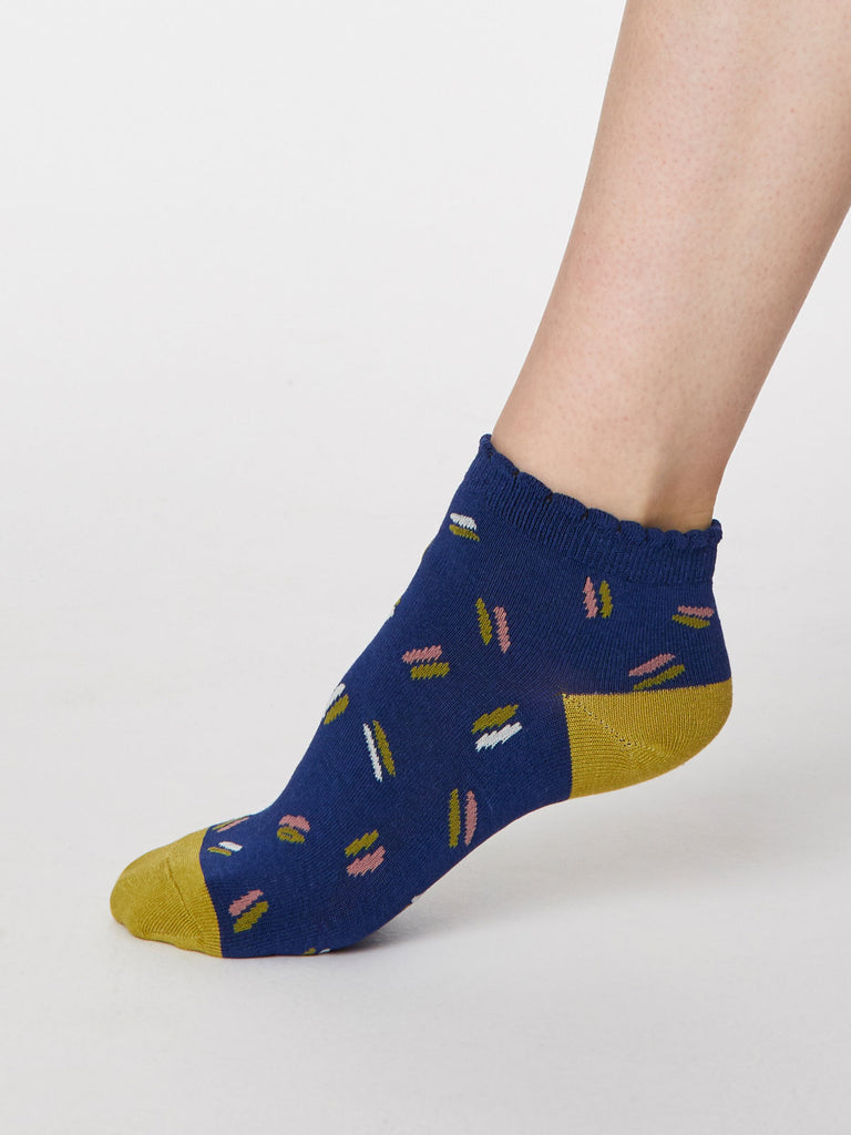 Sallie Bamboo Ankle Sock in Twilight Blue by Thought, Size 4-7-bamboofeet