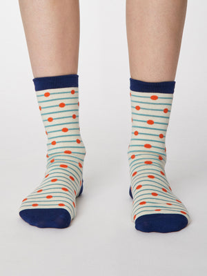 Hope Spot Bamboo Socks in Cream by Thought, Size 4-7-bamboofeet