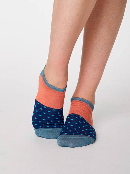 Esther Bamboo Trainer Sock in Twilight Blue by Thought, Size 4-7-bamboofeet