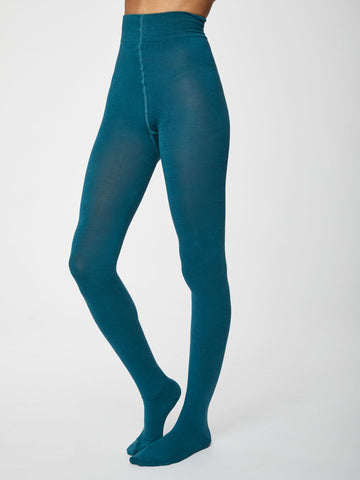 Elgin Bamboo Tights in Lagoon Blue by Thought-bamboofeet