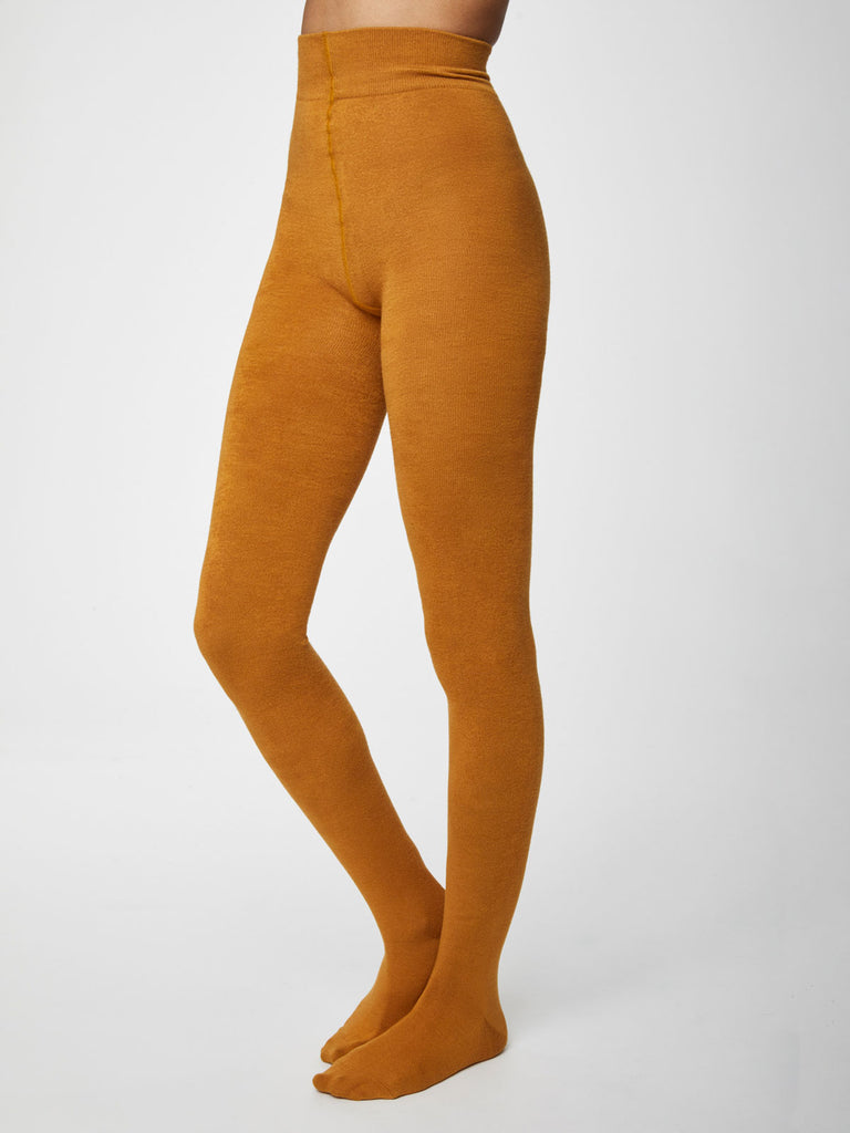 Elgin Bamboo Tights in Saffron by Thought-bamboofeet