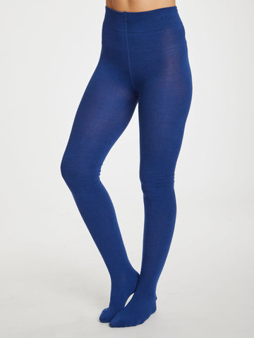 Elgin Bamboo Tights in Sapphire Blue by Thought-bamboofeet