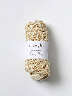 Organic Cotton String Bag in Stone by Thought-bamboofeet