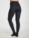 Spot Bamboo Tights in Midnight Navy by Thought-bamboofeet