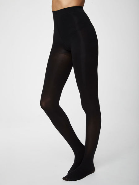 Sara Recycled NylonTights in Black by Thought-bamboofeet