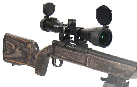 "UTG 3-9X40 1"" Hunter Scope, AO, 36-color Mil-dot, w/ Rings - Clear Sight Scopes"