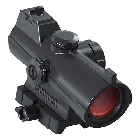 Bushnell AR Optics Incinerate Red Dot Sight 1x25 MOA Circle, 2 MOA Hi-Rise Picatinny-Style Mount - Clear Sight Scopes