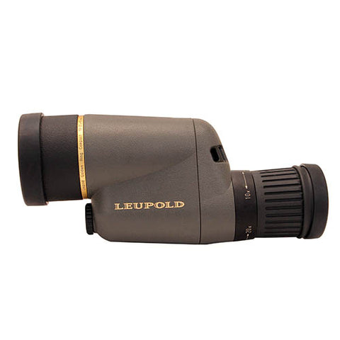 Leupold Gold Ring Spotting Scope 10-20x40mm, Compact, Straight Viewing, Shadow Gray - Clear Sight Scopes