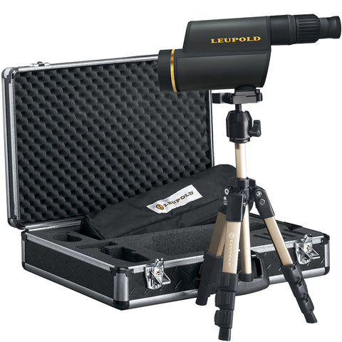 Leupold Gold Ring Spotting Scope 12-40x60mm, HD, Kit, Titanium Gray - Clear Sight Scopes