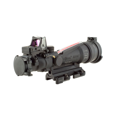 Trijicon ACOG 3.5x35mm Dual Illuminated Scope Red Horseshoe/Dot, M249 Ballistic Reticle/RMR Sight, and LaRue Tactical Mount - Clear Sight Scopes