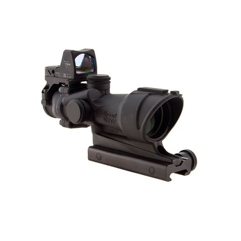 Trijicon ACOG 4x32mm Dual Illuminated Scope Amber Crosshair .223 Ballistic Ret, 3.25 MOA RMR Type 2 Sight, TA51 Mount, Black - Clear Sight Scopes