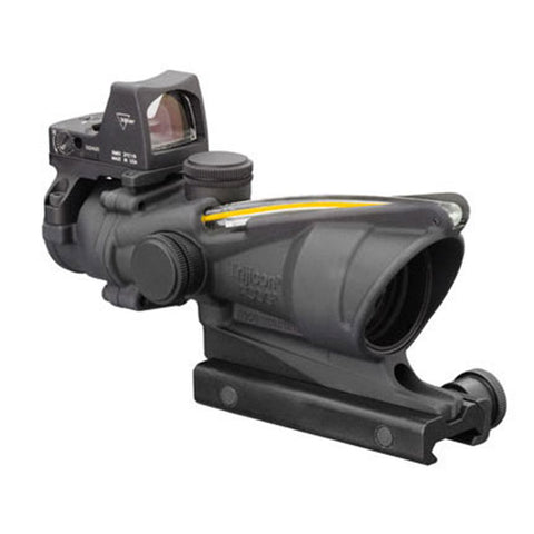 Trijicon ACOG 4x32mm Dual Illuminated Scope Amber Crosshair .223 Ballistic Reticle with 3.25 MOA RMR Type 2 Sight, Black - Clear Sight Scopes
