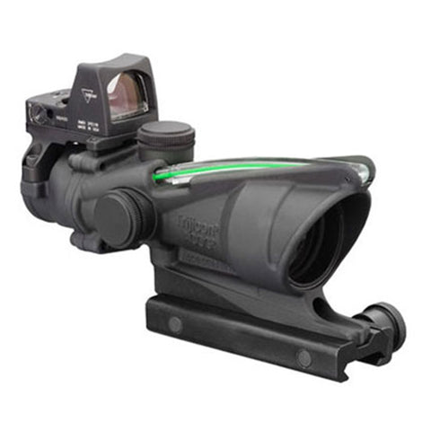 Trijicon ACOG 4x32mm Dual Illuminated Scope Green Crosshair .223 Ballistic Reticle with 3.25 MOA RMR Type 2 Sight, Black - Clear Sight Scopes