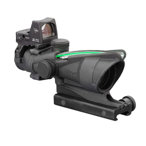 Trijicon ACOG 4x32mm Dual Illuminated Scope Green Chevron .223 Ballistic Reticle, 3.25 MOA RMR Type 2 Sight, TA51 Mount, Blk - Clear Sight Scopes
