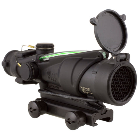 Trijicon ACOG 4x32mm BAC Rifle Combat Optic (RCO) Scope Green Chevron Reticle for the US Army's M150 with Thumbscrew Mount - Clear Sight Scopes