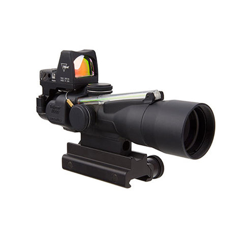 Trijicon ACOG 3x30mm Compact Dual Illuminated Scope Amber Horseshoe/Dot 5.56x45mm/62gr Ballistic Reticle with LED RMR Type 2 Sight - Clear Sight Scopes