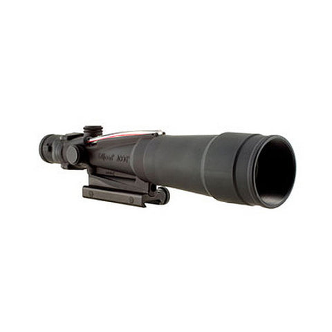 Trijicon ACOG 5.5x50mm Scope Red Chevron BAC Flattop .308 Reticle with Flattop Adapter, Black - Clear Sight Scopes