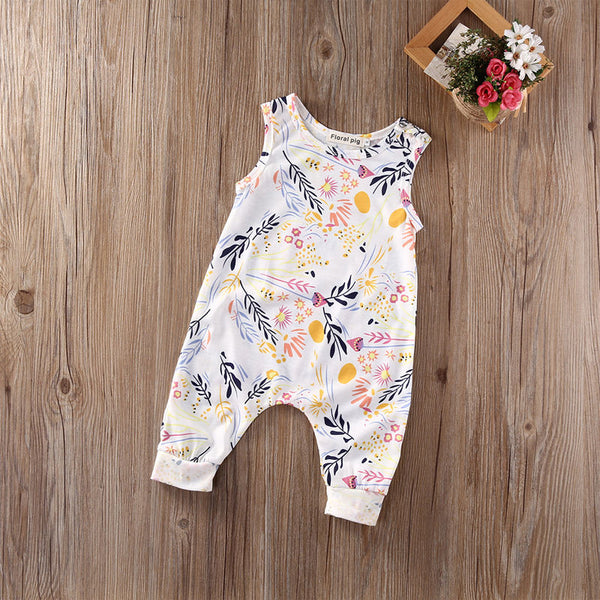 Sleeveless Floral Romper - Hiccup Baby
