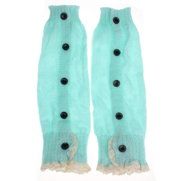 Leg Warmers Lace Crochet Knitted - Hiccup Baby