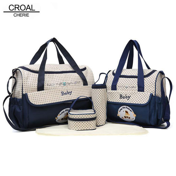 CROAL CHERIE 5pcs Baby Diaper Bag Set - Hiccup Baby
