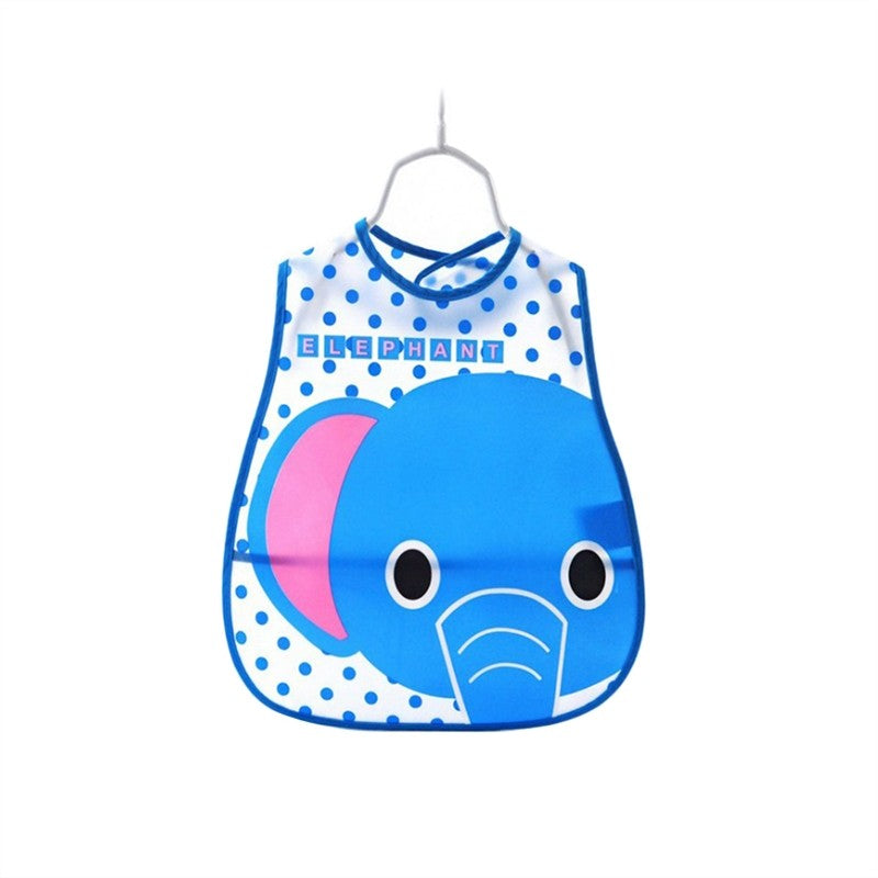 Baby Bibs Waterproof (Blue Elephant) - Hiccup Baby