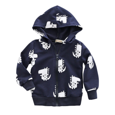 Infant Toddler Boys Dinosaur Hooded Zipper Coat - Hiccup Baby