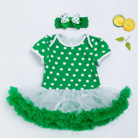 St. Patrick's Day Headband+Dress Party Dress - Hiccup Baby