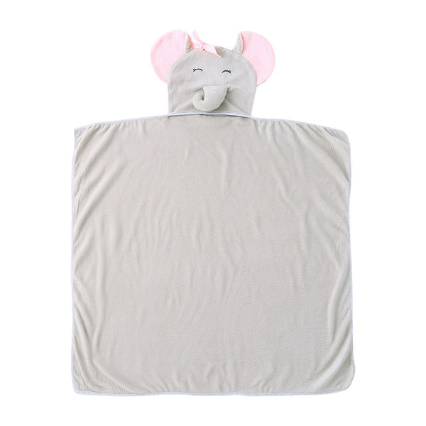 Newborn Hooded Swaddle Blanket Sleeping Wrap Towel - Hiccup Baby