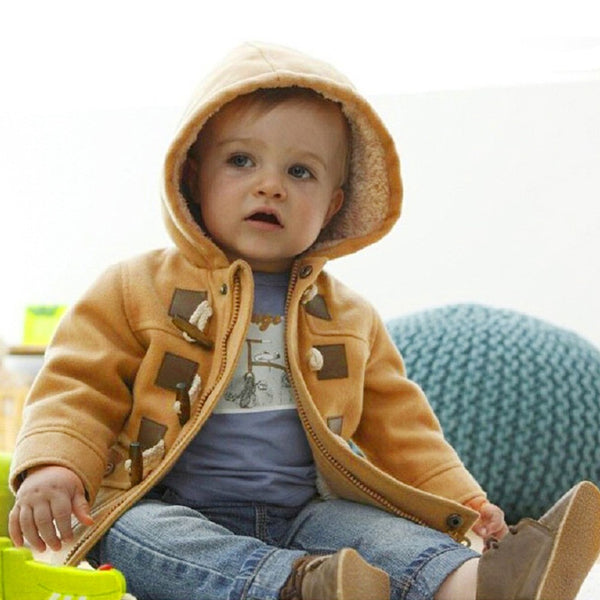 Boys Button Zipper Coat Warm Winter Kid Outwear - Hiccup Baby