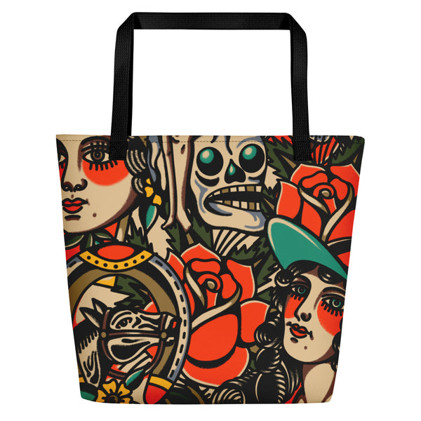 All Over Mashup Beach Bag
