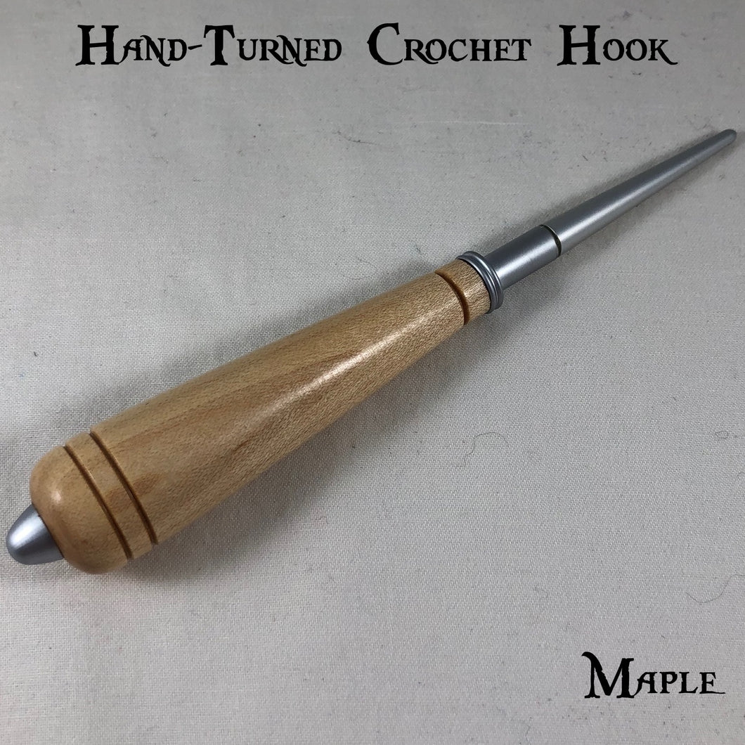 Natural Wood Hand-Turned Crochet Hook