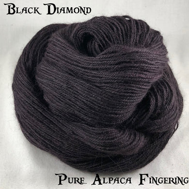 Pure Alpaca Fingering - Black Diamond