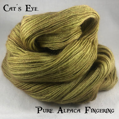 Pure Alpaca Fingering - Cat's Eye