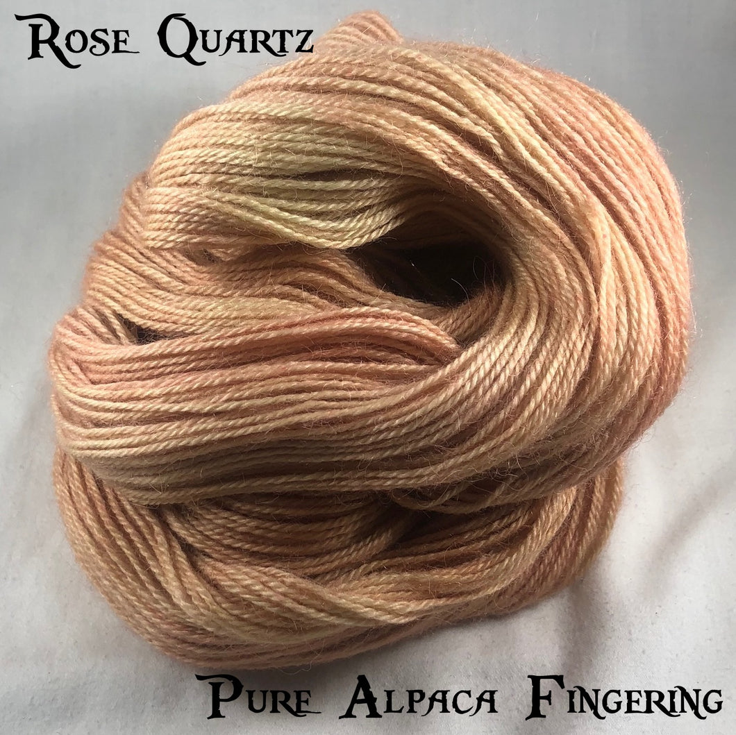 Pure Alpaca Fingering - Rose Quartz