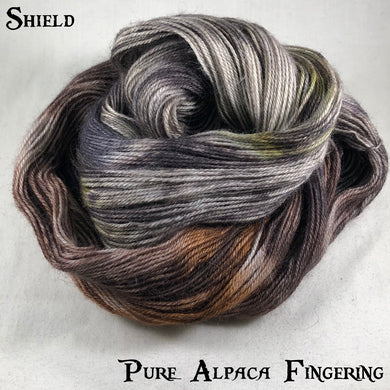 Pure Alpaca Fingering - Shield