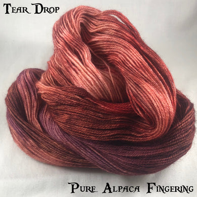 Pure Alpaca Fingering - Tear Drop