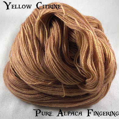 Pure Alpaca Fingering - Yellow Citrine