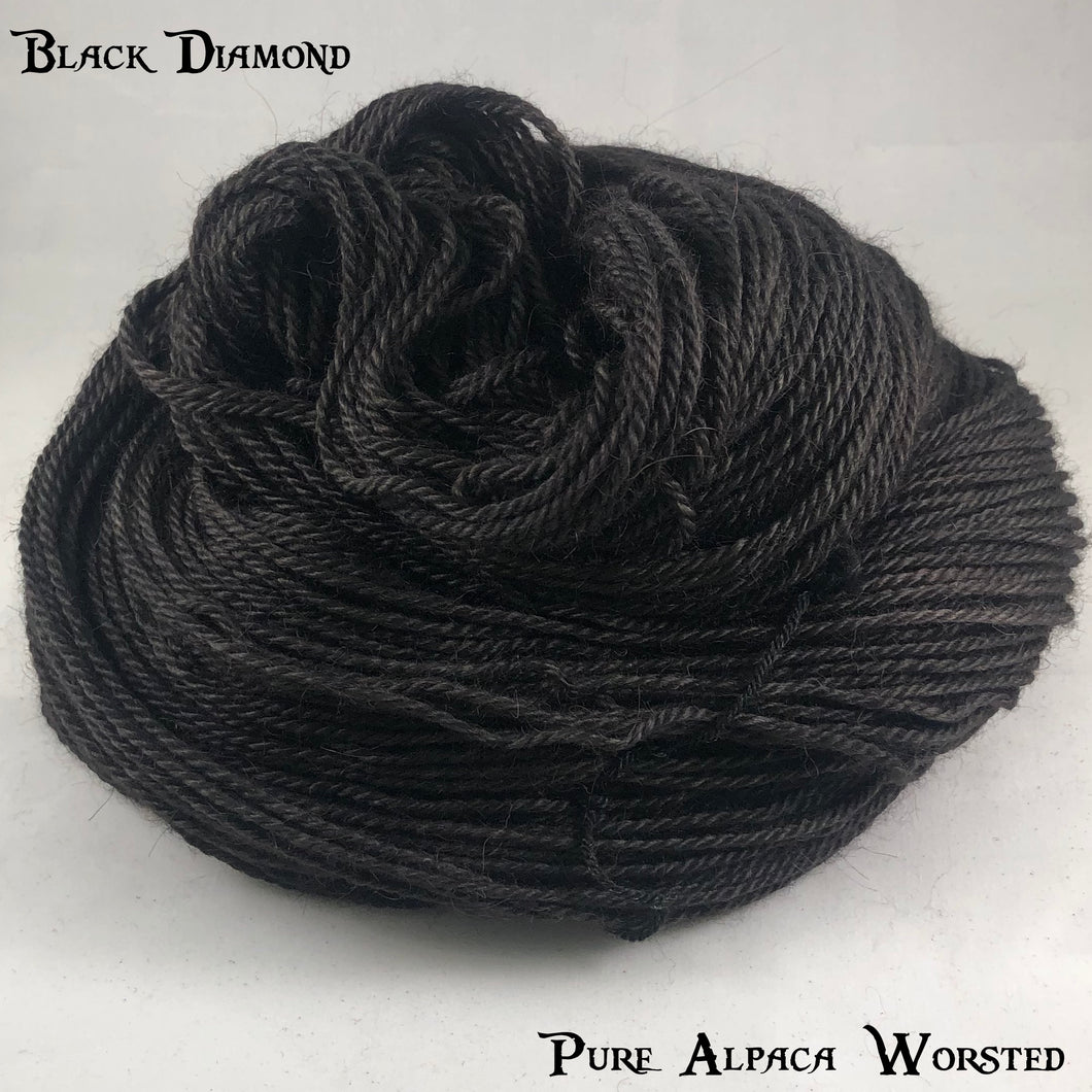 Pure Alpaca Worsted - Black Diamond