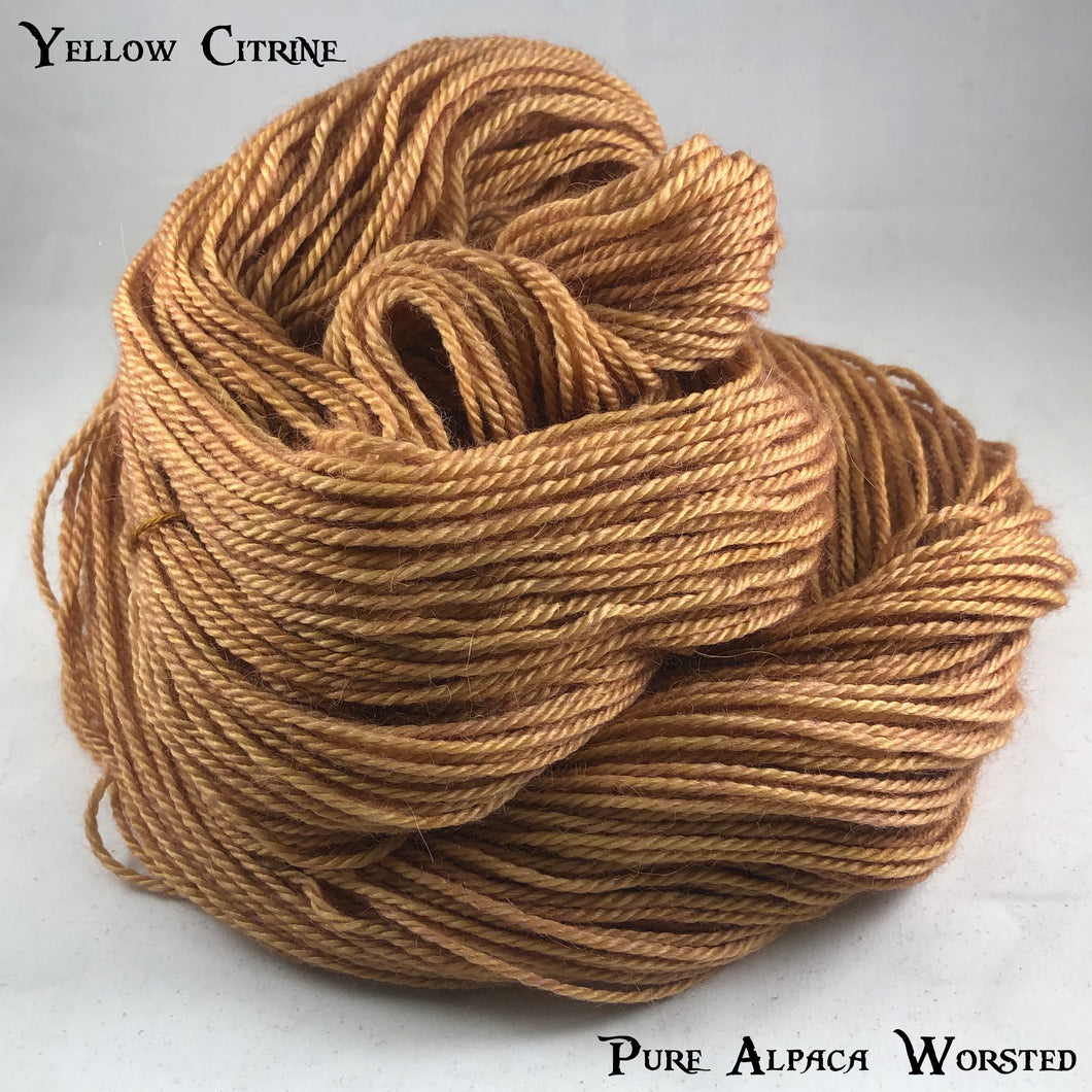 Pure Alpaca Worsted - Yellow Citrine