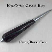 Stained Wood Hand-Turned Crochet Hook