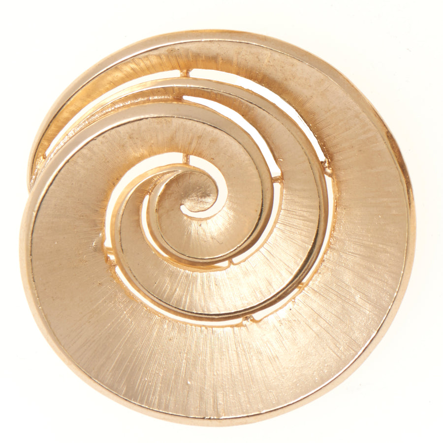 LARGE SWIRL BROOCH