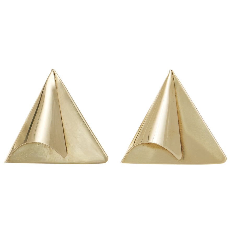 Folded Triangle Earring