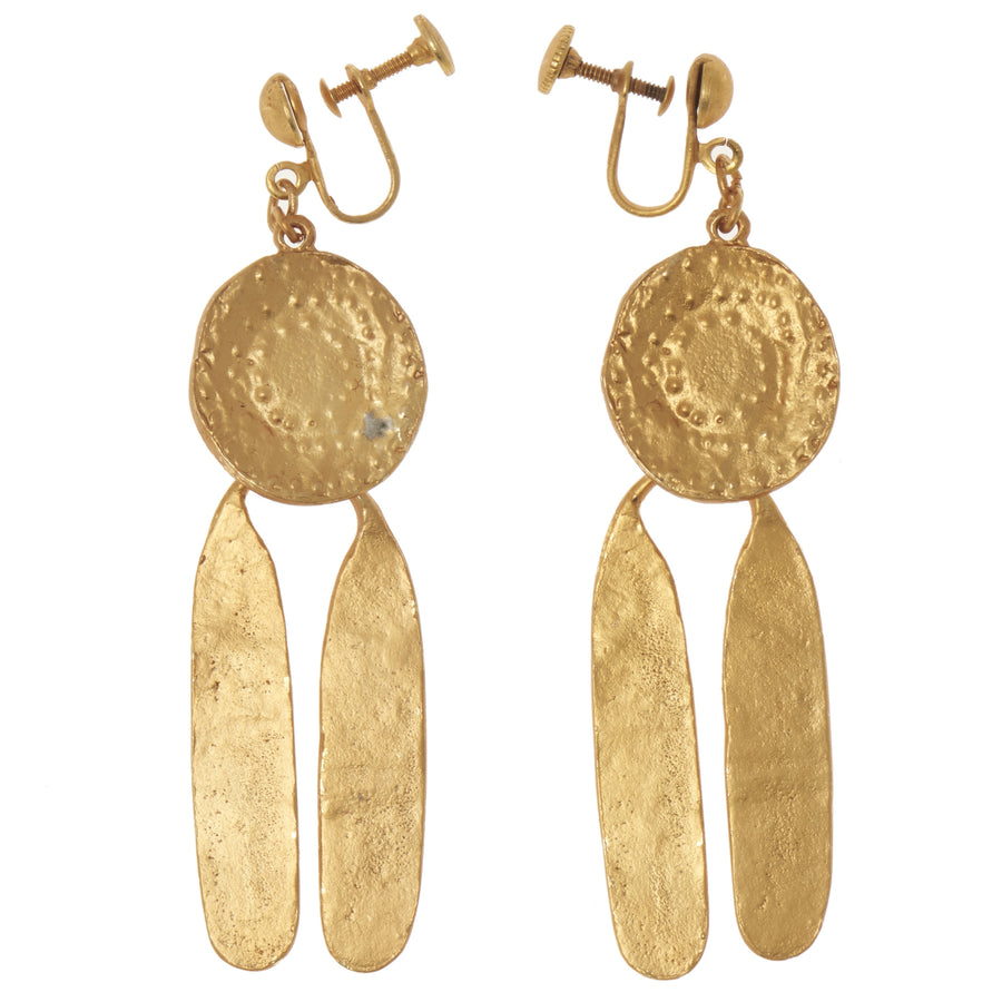 Pre-Columbian Medallion Earrings