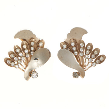 SCULPTURAL FLORAL FAN EARRINGS