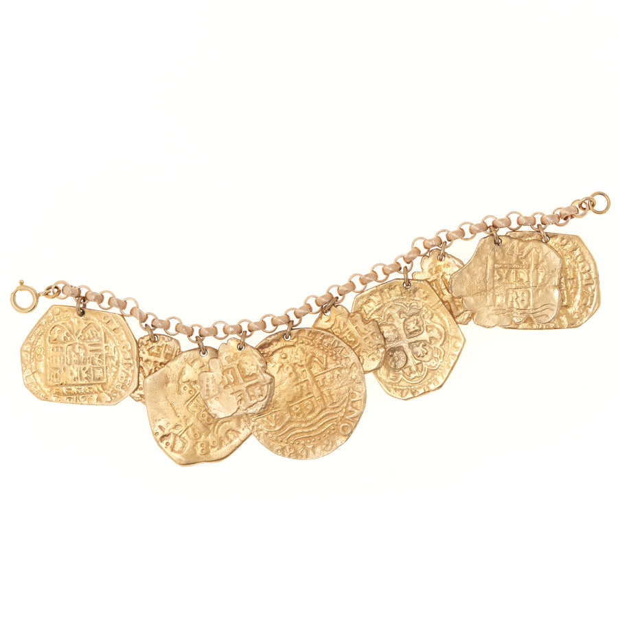 ANCIENT COIN CHARM BRACELET