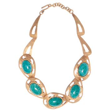 SILVANA GREEN STEPSTONE NECKLACE