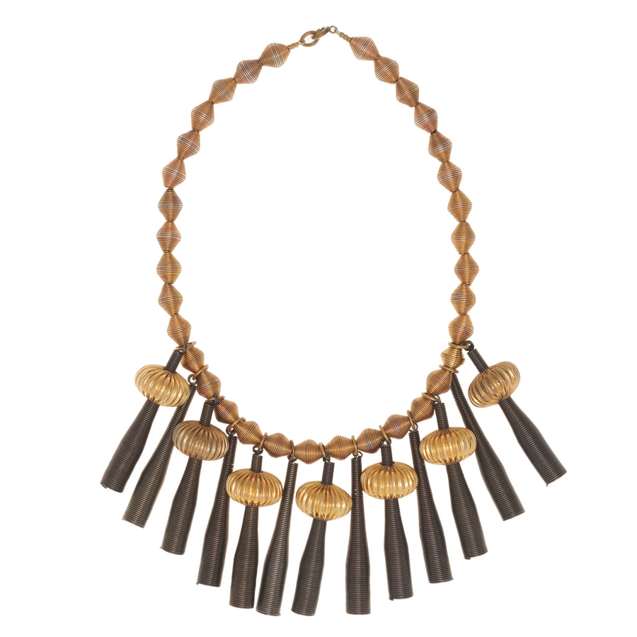 COILED STATEMENT NECKLACE