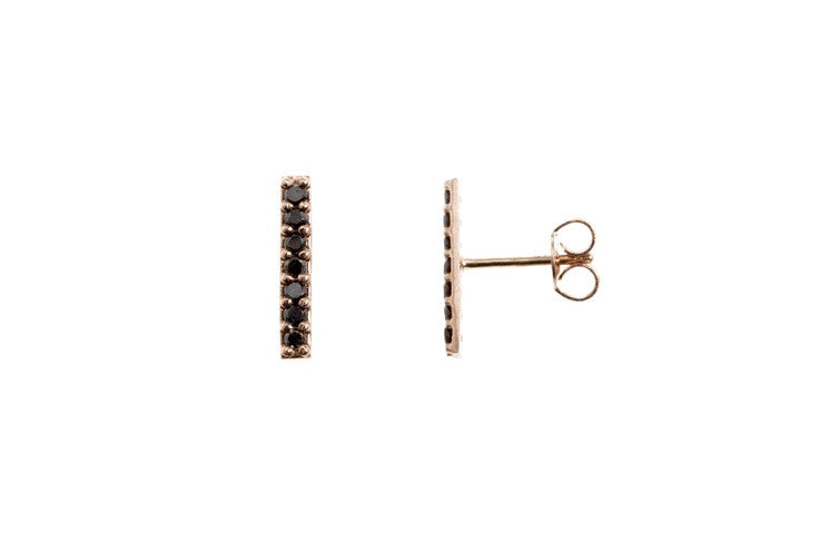 LONG PAVE BAR EARRINGS
